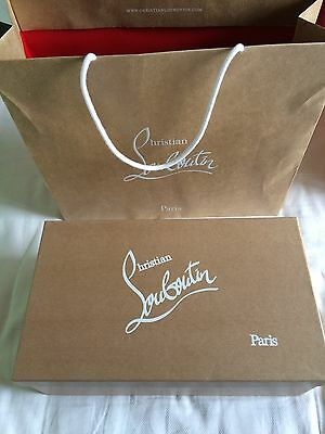 "Authentic christian louboutin empty box 14.1""×8.2""×5"" with paper bag"