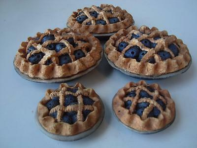 SWEETIE PIES Blueberry Pies for Boyds Teddy Bears 1994 Doll Play Food Miniature