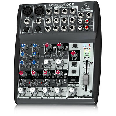 BEHRINGER XENYX 1002 10-In 2-Bus Mixer Monitoring Recording Live Sound +Warranty