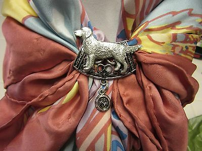 Lovely Golden Retriever Scarf Slide With Feeding Bowl-Very Limited Edition