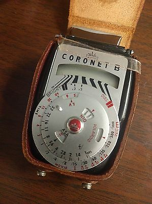 Vintage Walz Coronet B Light Meter with Leather Case