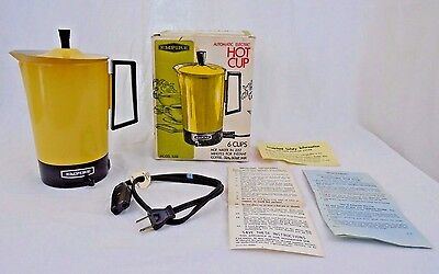 Vintage Empire Hot Cup Automatic Electric 6 Cup Model 1088 Water Heater