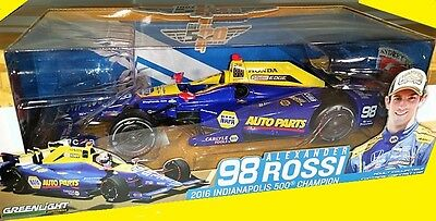ALEXANDER ROSSI 100th RUNNING 2016 INDIANAPOLIS 500 WIN 1:18 INDY CAR DIECAST