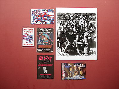 JEFFERSON AIRPLANE,promo photo,5 Original Backstage passes,Various Tours,RARE