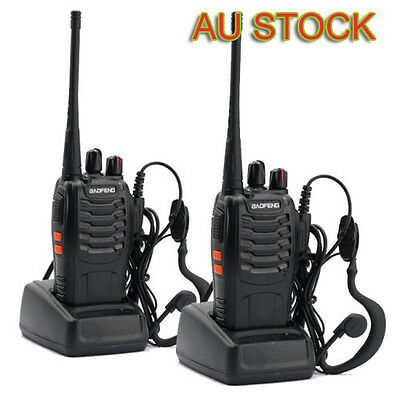 2X Baofeng BF-888S 400-470MHz 2-way Radio 16CH UHF Walkies Talkies Hum