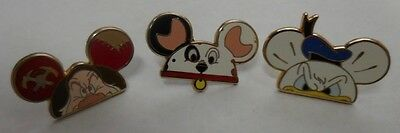 Disney Pin DLR WDW Character Earhat Mystery Pack Grumpy, Patch & Donald Set of 3