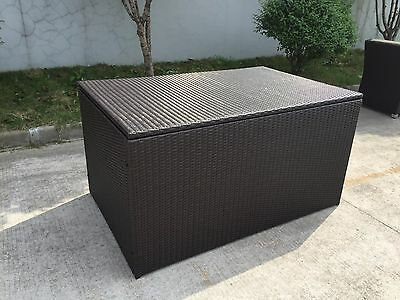 BRAND NEW RATTAN FURNITURE OUTDOOR aluminium frame WICKER STORAGE BOX