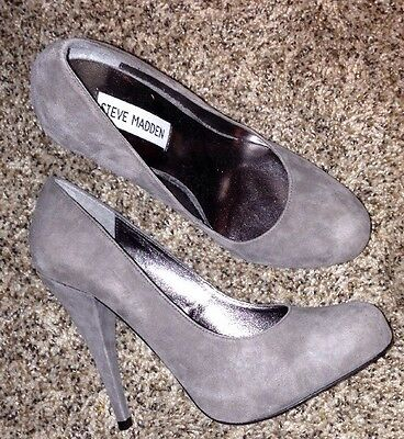 Women's Steve Madden Shoes Heels Pumps NEW NWT Taupe Suede Leather 7