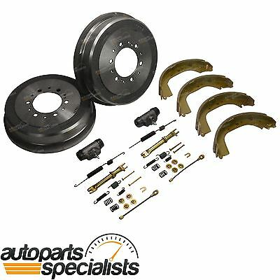 Brake Drums Shoes Wheel Cylinders Hardware Kit for Toyota Hilux KZN165 99-05 4X4