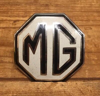Vintage Original MG Auto Car Enamel Badge Emblem W Reeves Birmingham England