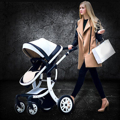 Fashion Baby Pram Buggy Portable Stroller Pushchair Car Seat Travel System Safe