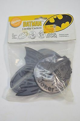 Batman Cookie Cutters Wilton 1989 New Still in Package Set of 4 Joker DC Comics