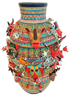 Museum Pot Tree of life Alfonso Castillo day of the dead mask Mexican folk art
