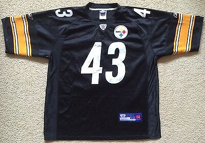 Pittsburgh Steelers Troy Polamalu #43 NFL Jersey Mens Size 48 Made in Korea VGC