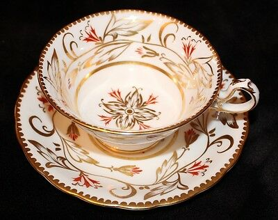 RARE Vtg. Royal Chelsea England Handpainted Tea Cup & and Saucer GORGEOUS