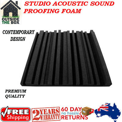 Studio Acoustic Soundproofing Foam Metro Home Theatre Music Recording Panel New