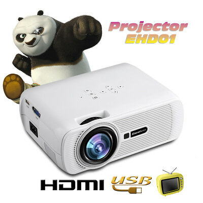 Multimedia LCD LED 1200 lumens Proiettore Home Theater Cinema HDMI/USB/VGA/AV/SD