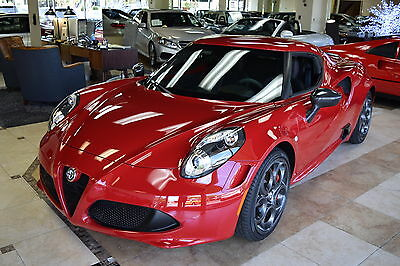2015 Alfa Romeo 4C Launch Edition 2015 Alfa Romeo 4C Launch Edition Coupe 1908 mi SHOWROOM NEW