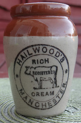 """Pictorial """"cow"""" Trade Mk. Cream Crock From Old England Circa:1910.stunning"""