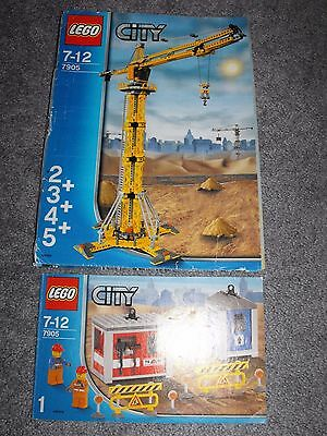 LEGO 7905 Building Crane INSTRUCTIONS ONLY - 2 books