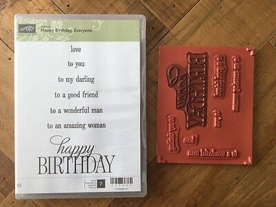 Happy Birthday Everyone Clear Mount Stamps - Stampin' Up!