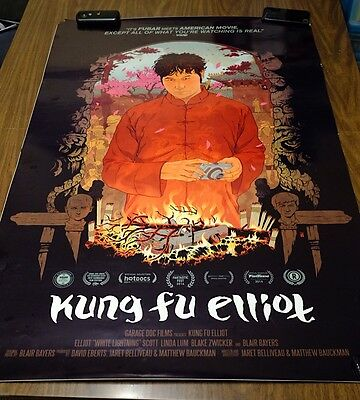 Kung Fu Elliot Movie Poster 2014 Original 40 x 27 inches