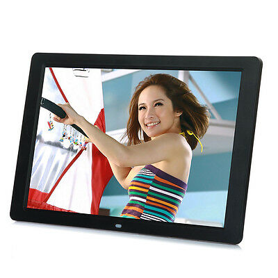 New 15 inch HD LED Digital Photo Picture Frame MP3 MP4 Movie+Remote Control BU