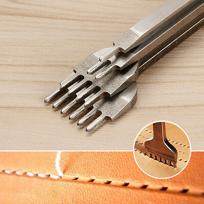 Leather Craft Tools Hole Chisel Graving Stitching Punch Tool Set 3,4,5,6mm UK
