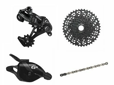 Sram MTB GX1 GX 1x11 speed Groupset Kit 4 pieces Shifter RD Cassette Chain Black