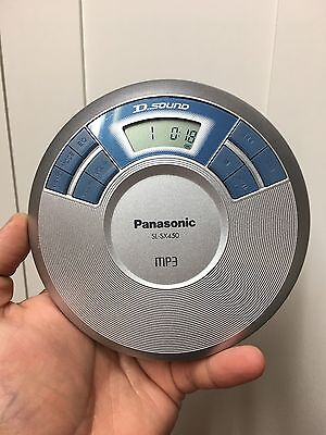 Panasonic Portable CD MP3 Player SL-SX450 With D Sound. Works Great
