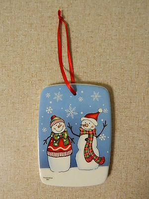 Ganz Ceramic Snowman Christmas Ornament You Can Personalize Yourself New