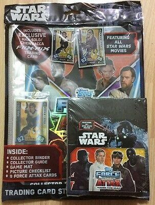 Topps Star Wars Force Attax Trading Cards Full Box X 36 Packets & Starter Pack