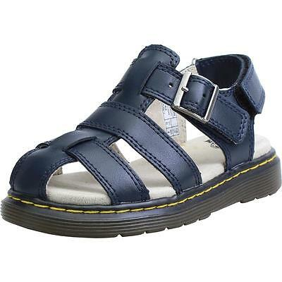 Dr Martens Moby Navy Leather Baby Flat Sandals