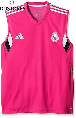 Adidas real madrid maillot sans manche training pour homme M Rose Blast Pink...