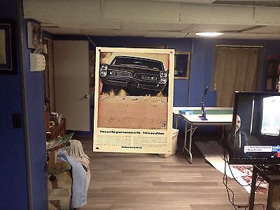 Huge! 43x30 PONTIAC GTO Vinyl Banner POSTER Art Car hemi muscle car Chevelle