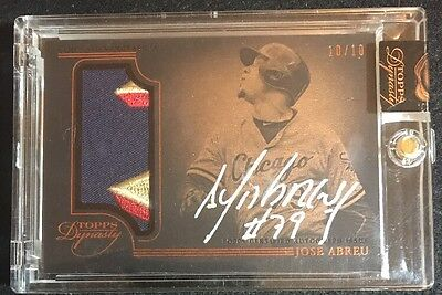 2014 Topps Dynasty JOSE ABREU RC AUTOGRAPH GM USED PATCH #d 10/10 ROOKIE