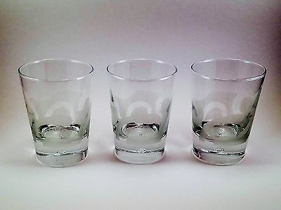 SET of 3 BAILEYS IRISH CREAM Frosted Glass LOWBALL TUMBLERS GLASSES