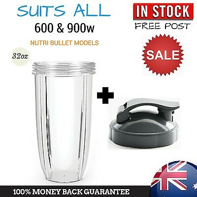 Colossal Cup + Flip Top Lid Suit All Nutribullet 600 900 Nutri Bullet Model