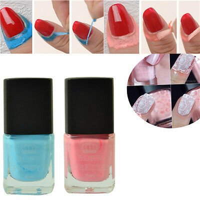 2Pcs Born Pretty Liquid Tape & Peel Off Base Coat Nail Art  Latex 6ml
