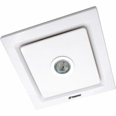 NEW Martec Tetra White Square Bathroom Exhaust Fan & LED Light -  MXFLT25W