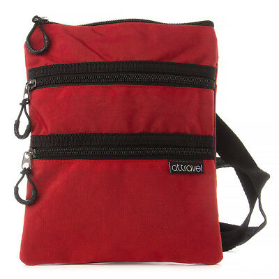 NEW AT Triple Zipper Red Travel Bag