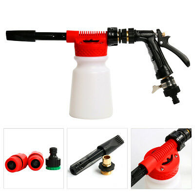 Snow Foam Car Cleaning Wash Gun Sprayer Adjustable With Heavy Duty Bottle 900ml