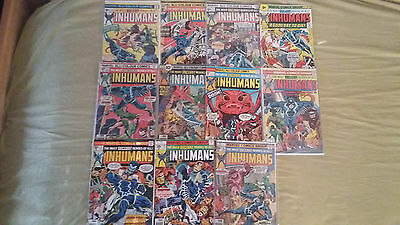 The inhumans 1975 complete (excep #12)  BRONZE AGE, see pictures & desc tv show