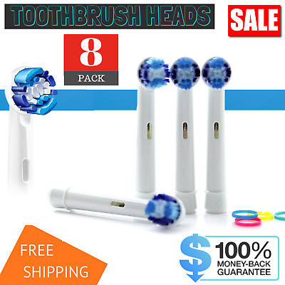 8 x PRECISION CLEAN Oral B Compatible Toothbrush Replacement Head Brush Heads