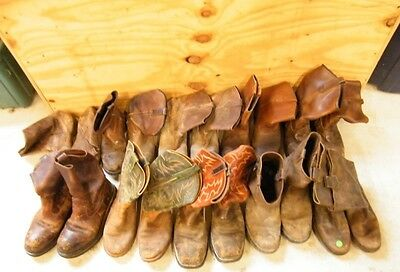 Wholesale Lot 10 Mens Ranch Worn Leather Pull-On Cowboy Western Work Craft Boots