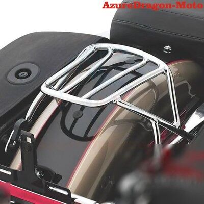 For Harley Sportster XL 883 1200 2014 2015 2016 Luggage Rack Solo Seat Chrome