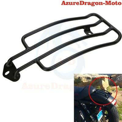 Black Steel Solo Seat Luggage Rack For Harley Sportster XL 883 XL 1200 1985-2003