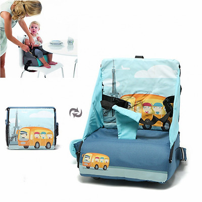 2 in 1 Baby Booster Seat High Chair Travel Folding Diaper Bag Portable Booster S