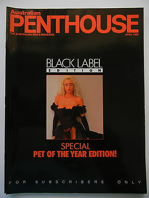 April 1989 Black Label Australian Penthouse Magazine - Subscriber Only Edition