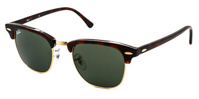 b61aff4fe1 BRAND NEW Ray-Ban Sunglasses RB 3016 W0366 51mm Clubmaster Tortoise  AUTHENTIC